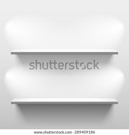 shelves with light and shadow