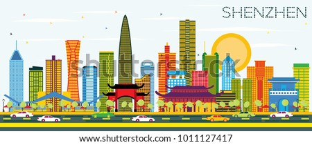 shenzhen china city skyline