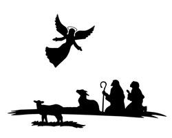 Shepherds silhouette , angels , religion