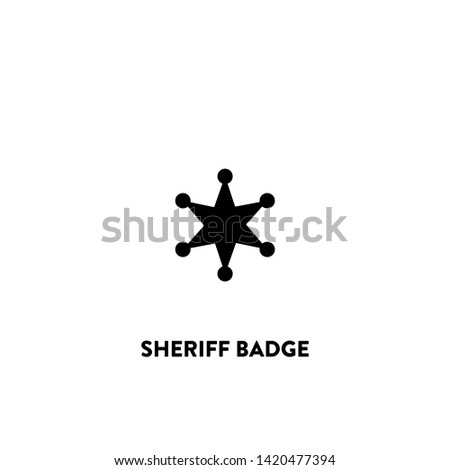 sheriff badge icon vector. sheriff badge sign on white background. sheriff badge icon for web and app