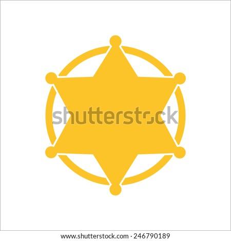 Sheriff badge, vector illustrator