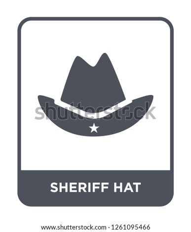 3462ccb3755 sheriff hat icon vector on white background