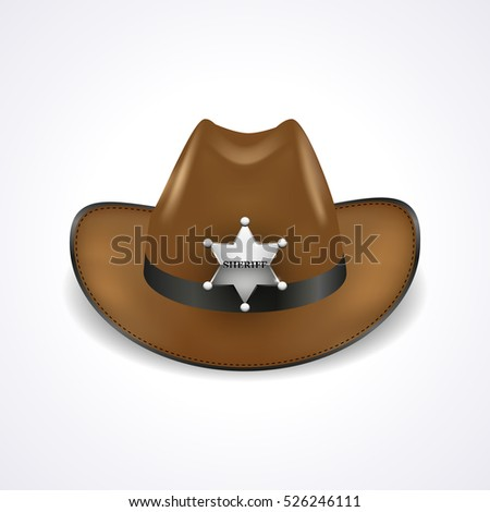 sheriff hat with silver metal