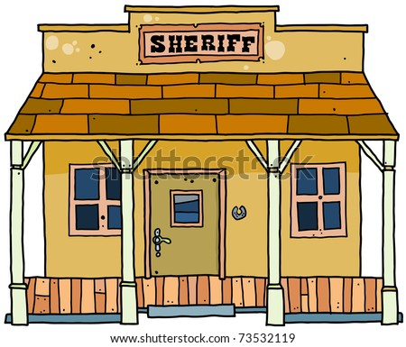 Sheriff House Western Style. Stock Vector 73532119 : Shutterstock