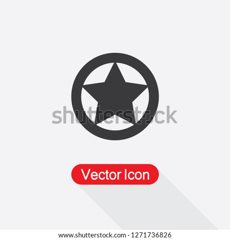 Sheriff Or Texas Ranger Wild West Circular Star Icon Vector Illustration Eps10