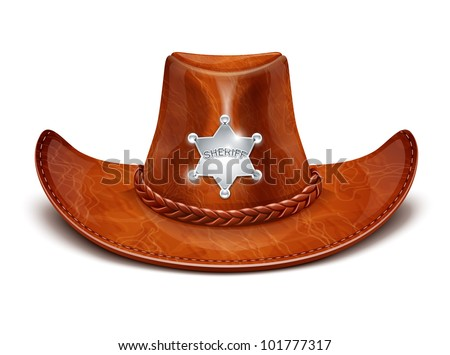 sheriff's leather hat stetson