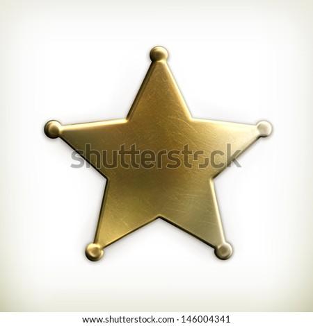 Sheriff star icon Stock fotó ©