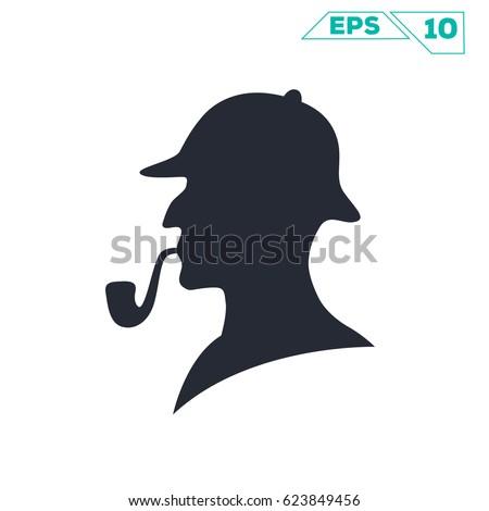 sherlock holmes pipe silhouette