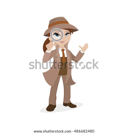 sherlock woman with magnifying