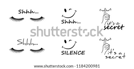 shhh zzz silent please be quiet please smiley smile silence finger over lips Face emoticon no sound off flat icon verctor eps sssh whisper mouth hand no talking forbidden human love stop  eye lashes