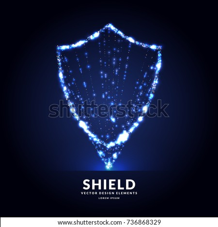 Shield, a symbol of protection and reliability. Vector illustration.