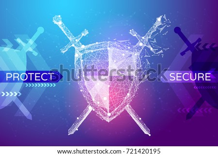 shield and swords in the form