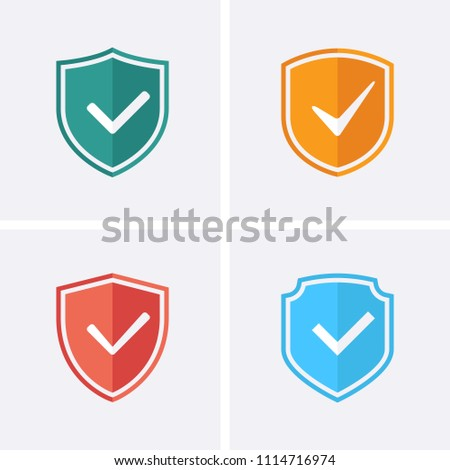 Shield and Tick Icons. Guaranteed Icons