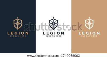 Shield / armor / sword and star Photo stock ©