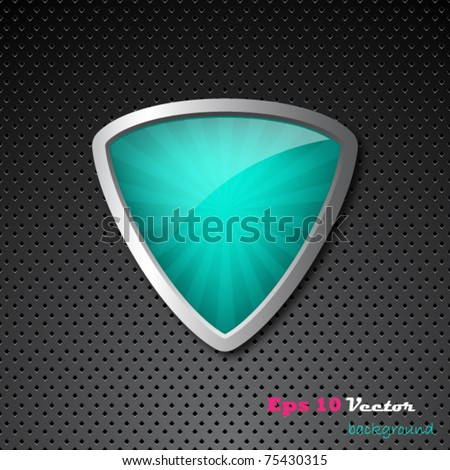 Shield background - stock vector