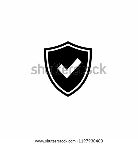 Shield Check Mark icon vector. Mail Icon Symbols vector. symbol for web site Computer and mobile vector.