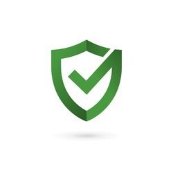 Shield check mark logo icon design template elements