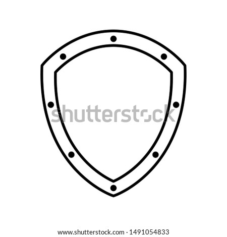 Shield design, Security protection emblem banner heraldic medieval and insignia theme Vector illustration