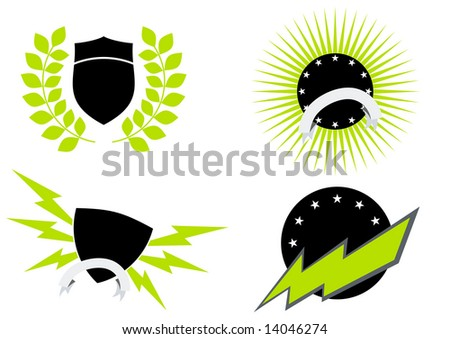 stock vector : shield flash logo