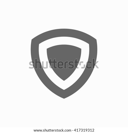 shield flat icon silhouette