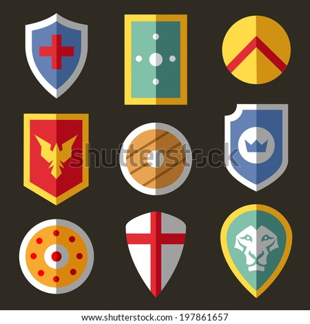 stock-vector-shield-flat-icons-for-game-