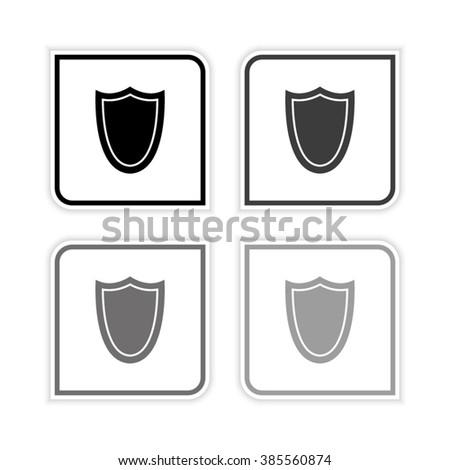 shield    grayscale vector icon