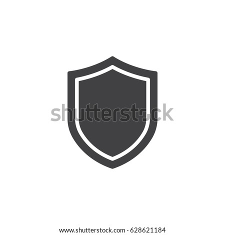 Shield, guard icon vector, filled flat sign, solid pictogram isolated on white. Symbol, logo illustration. Pixel perfect