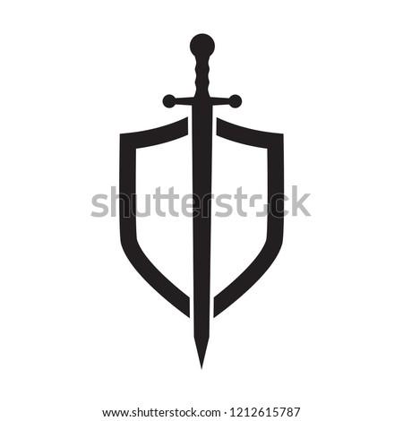 shield icon in trendy flat design  Photo stock ©