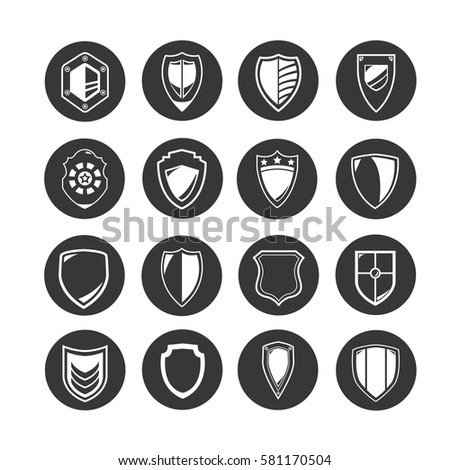 shield icon set in circle