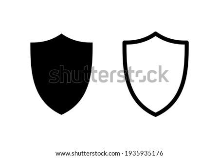 Shield icon set. Protection icon vector. Security vector icon