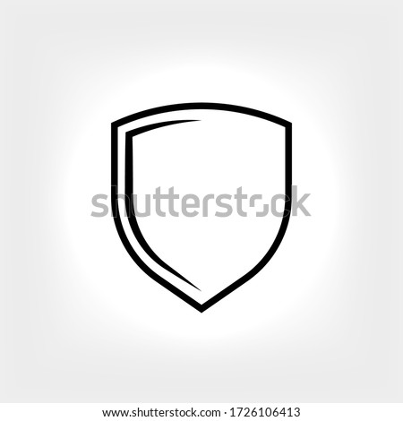 Shield Icon. Sign of Protection,Guard and Security. Insurance or Immunity Symbol - Vector.  Photo stock ©