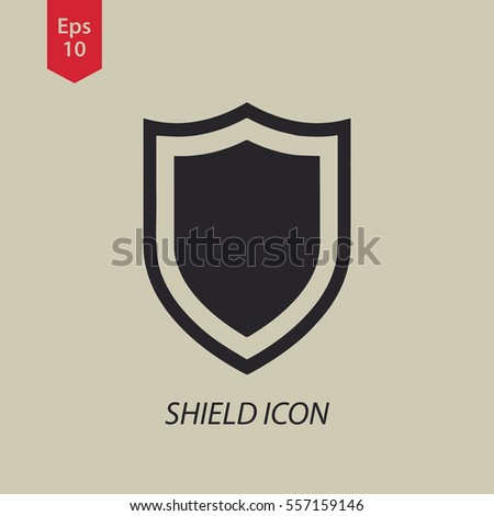 Shield Icon. Simple Flat Symbol. Vector Illustration