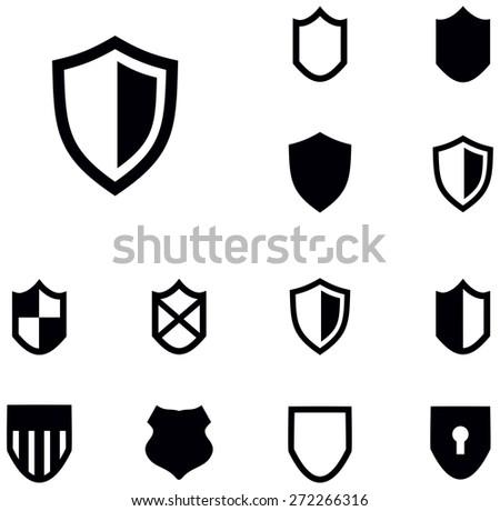 Shield Shapes Vector Set