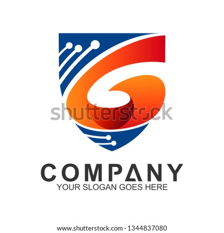 Shield Letter G Logo For Digital And Technology, Protection And Care Logo, Guardian Symbol