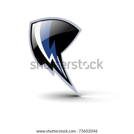 shield lighting symbol design, vector illustration.
