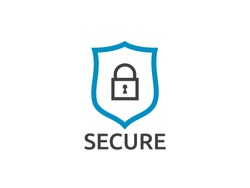shield line icon logo symbol, Internet VPN Security Concept vector illustration
