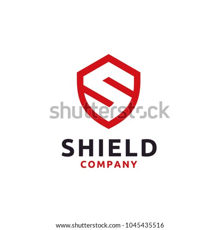 Shield / Secure / Safe with Initial S logo design inspiration