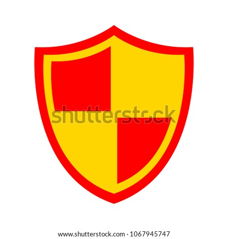 Shield sign icon. Protection emblem - security shield sign