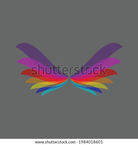 Shield Wing Logo blackk and gold, Wing Logo Luxury Wings Vector, Wings Logo Vector, Wings Icon, Wing Vector Illustration,