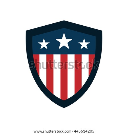 shield with american flag badge ...