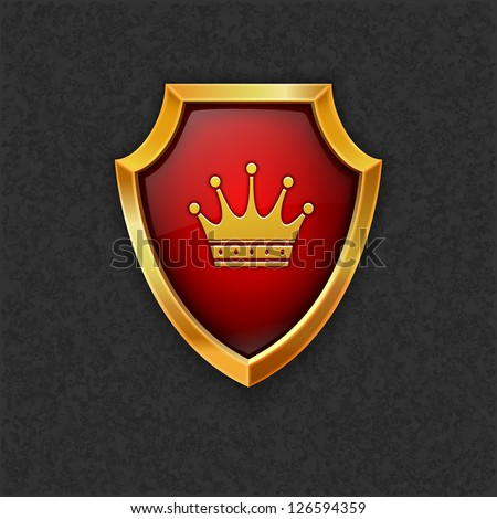 Shield with crown.Vector eps10