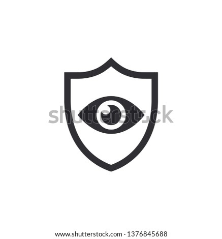 shield with eyes eye