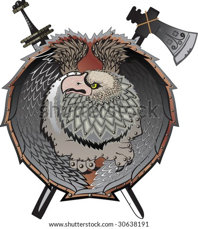 Shield with griffins, (mystical creature)