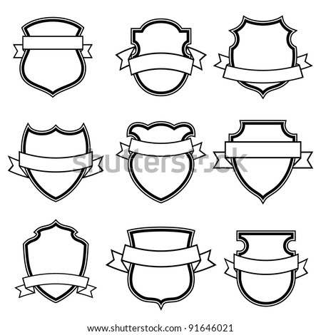 shield with ribbon collection