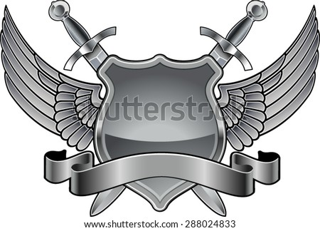 shield with swords  wings and