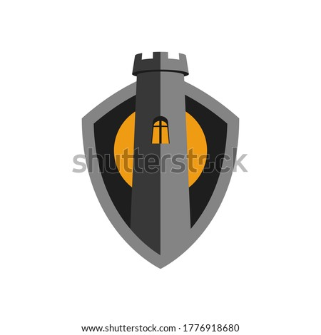 shield with the image of a