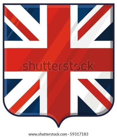 shield with united kingdom flag (coat of arms)