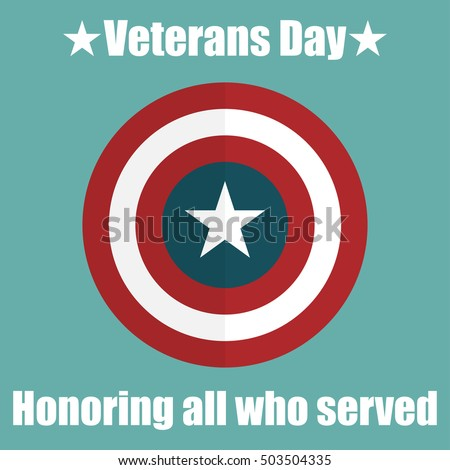 shield with usa veterans day