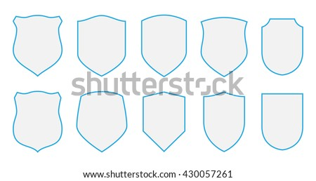 shields vector coat arms set...