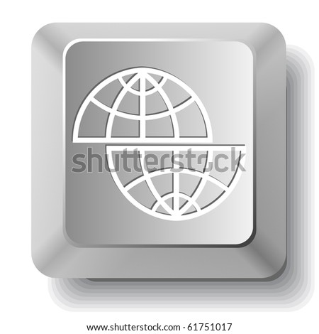 Shift globe. Vector computer key.